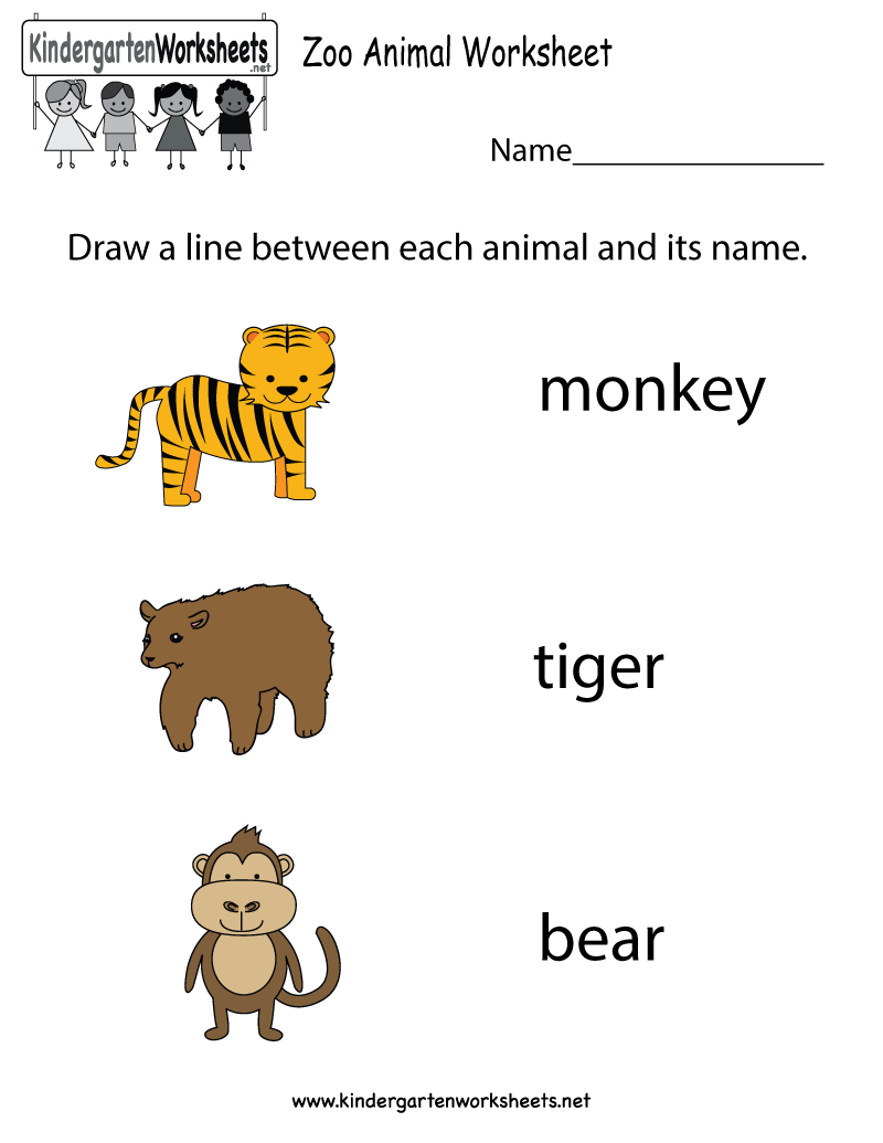 Free Zoo Animal Worksheet For Kindergarteners  This Would Be A