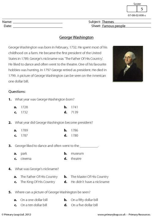 George Washington Worksheets The Best Worksheets Image Collection
