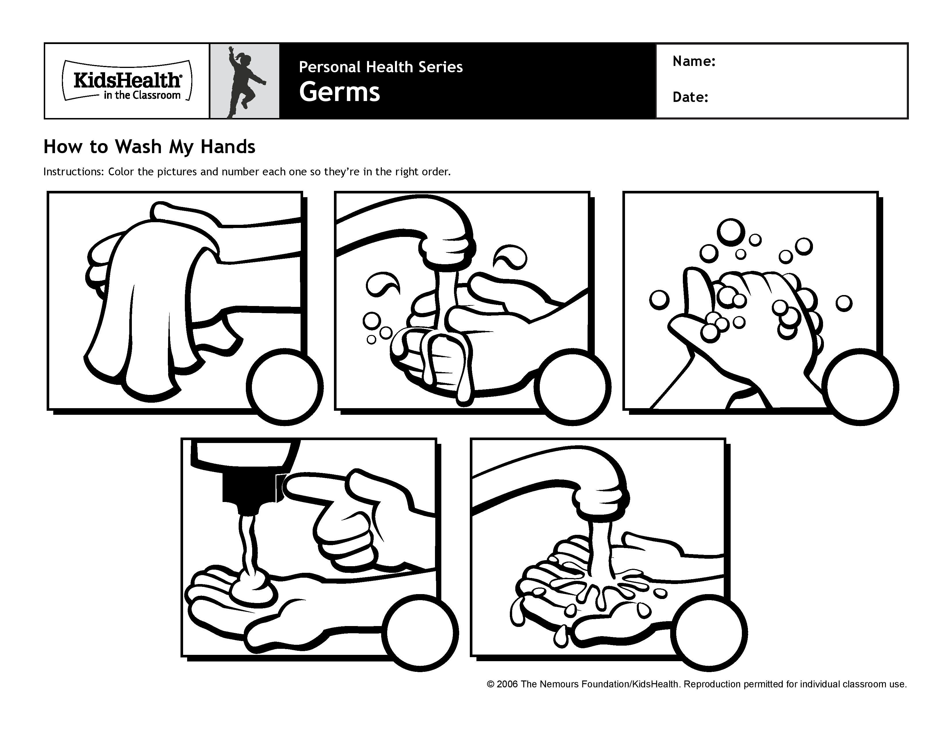 Germ For Kindergarten Printables