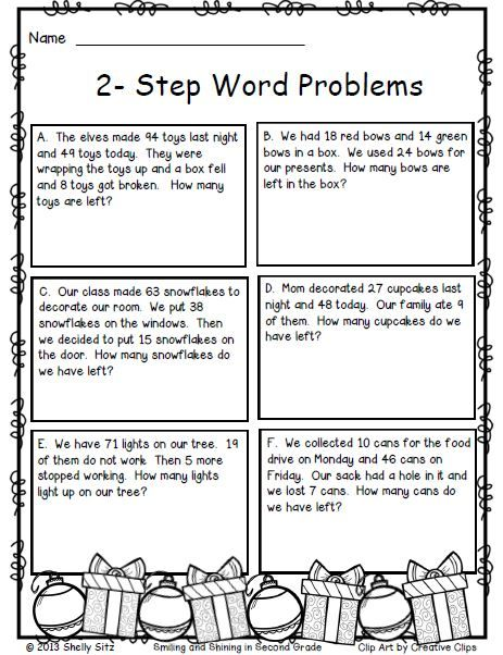 Grade 2 Math Problem Solving Worksheets