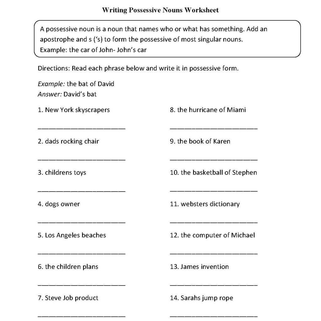 Grade Six English Worksheets And Grade 6 English Second Language
