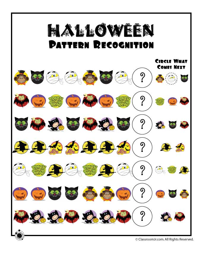 Halloween Worksheets Printables For Preschool 134958
