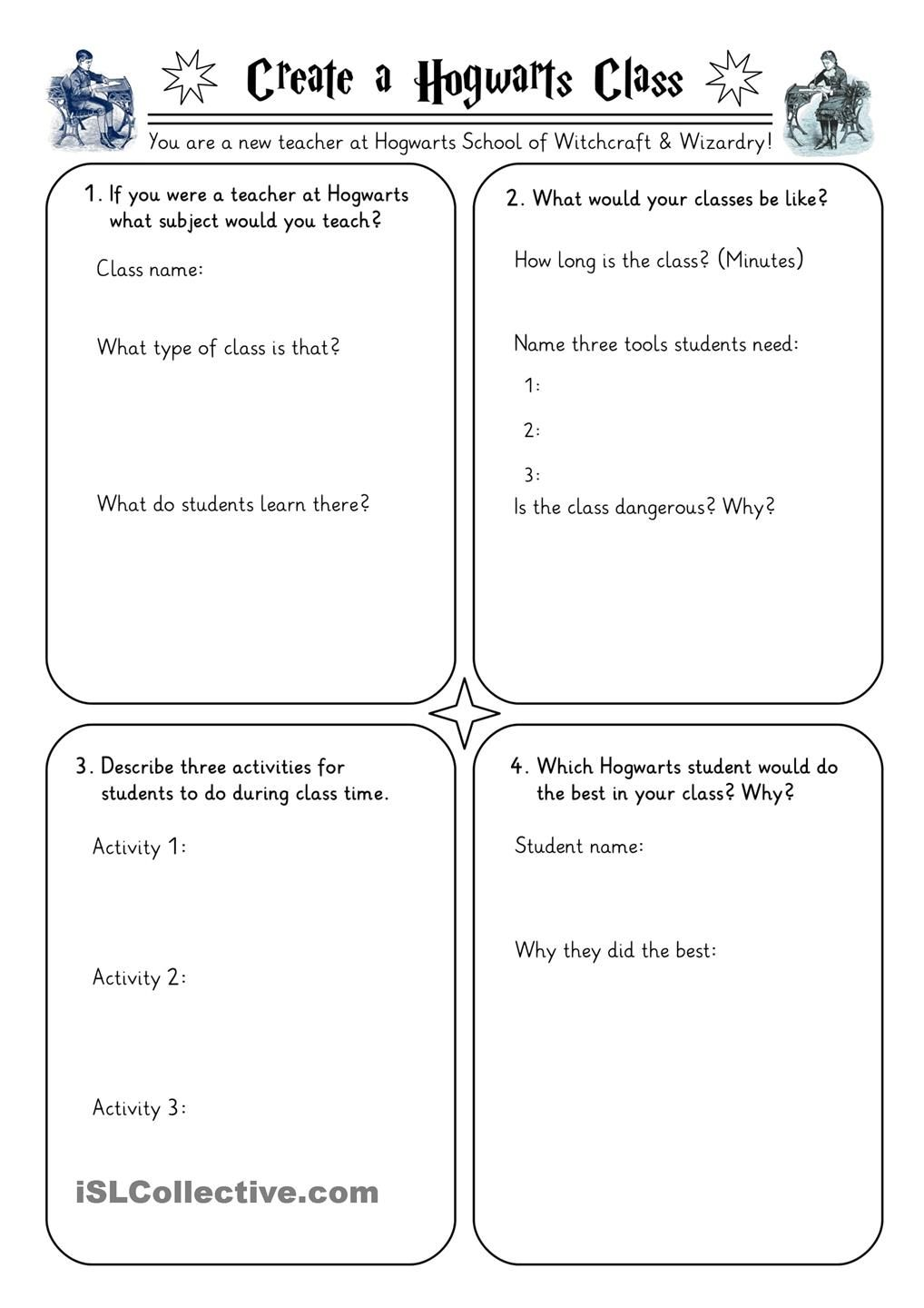Harry Potter Worksheets Collection
