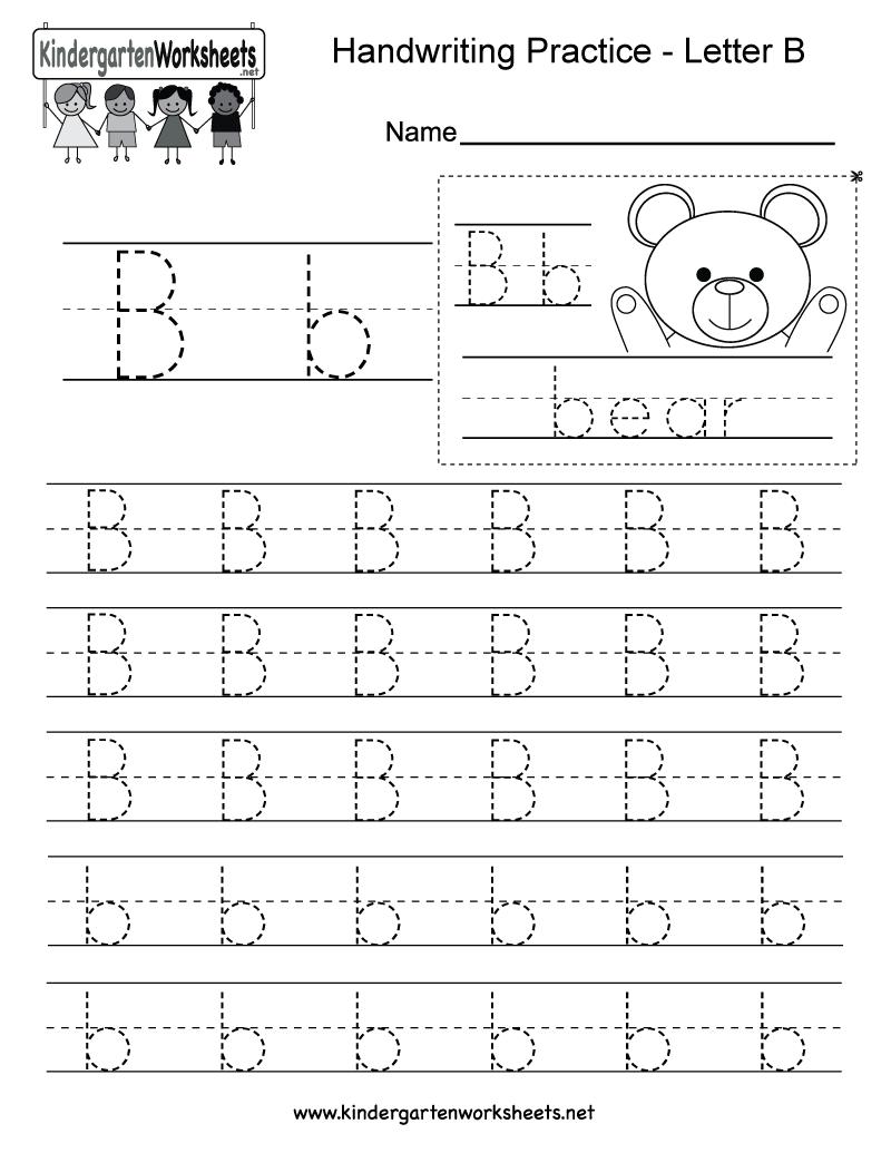 Impressive Free Letter B Worksheets For Kindergarten About Letter