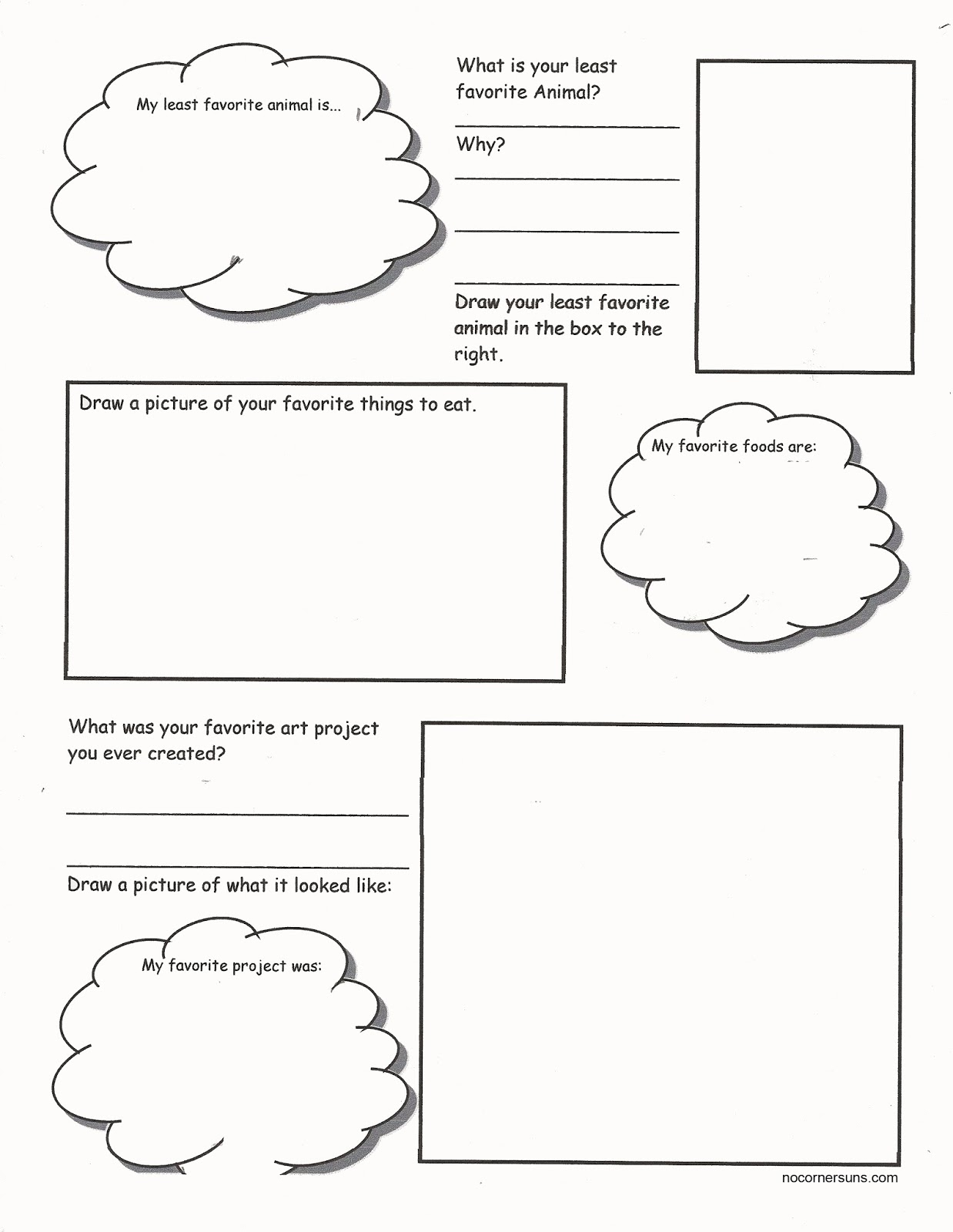 Kids  Art Worksheets For Middle School  Projects Worksheets Images