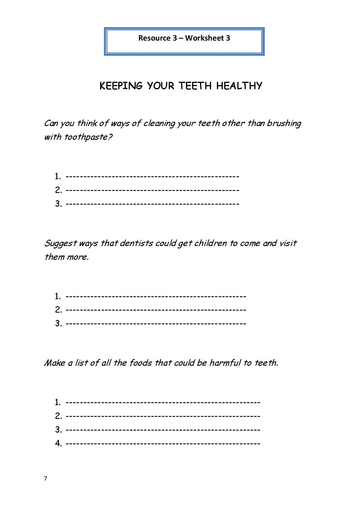 Kids  Free Printable Health Worksheets For Middle School  Middle