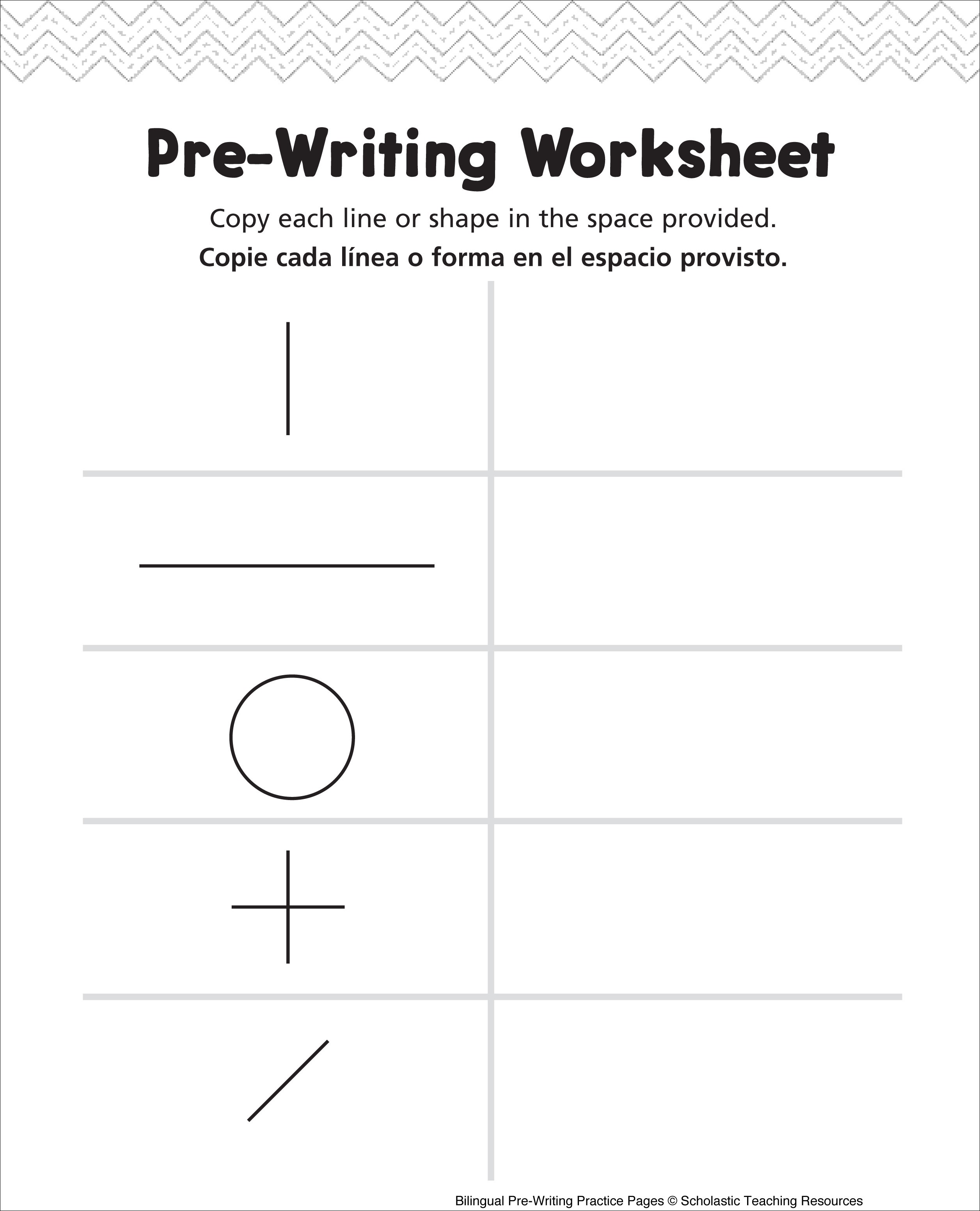 Kids  Pre Writing Activity Sheets Pre Writing Activity Sheets