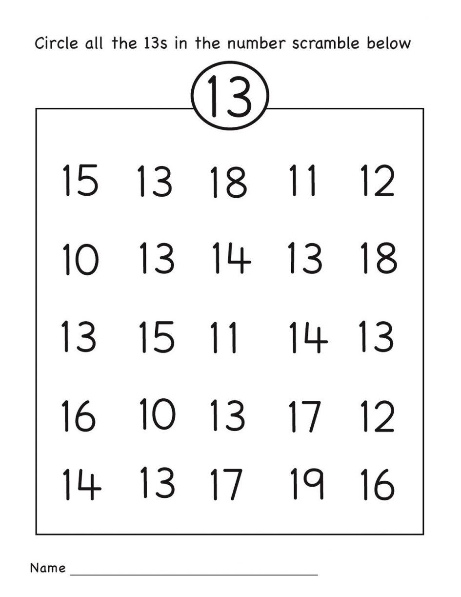 Kids  Worksheets For Grade R  Number Worksheet Circle Grade R