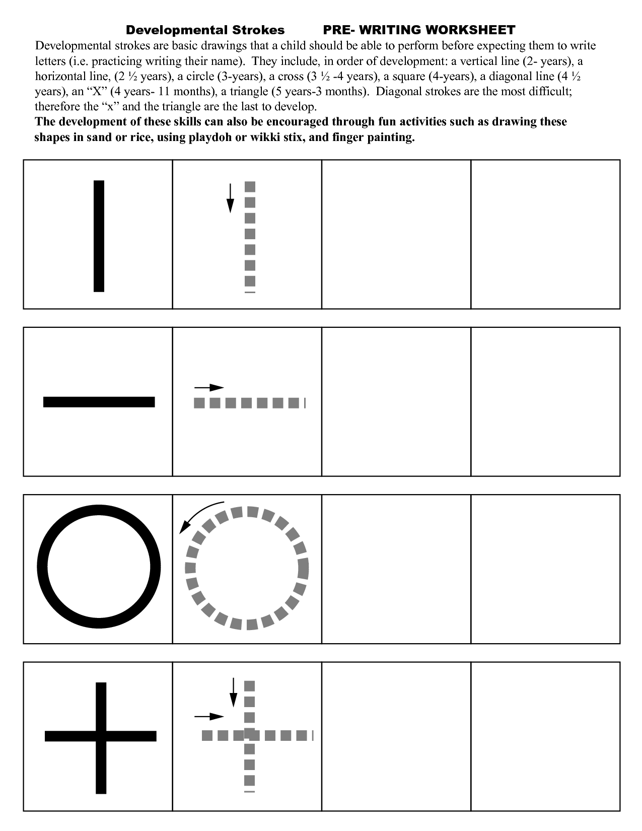 Kids  Writing Skills For Kids Worksheets  Pre Writing Strokes