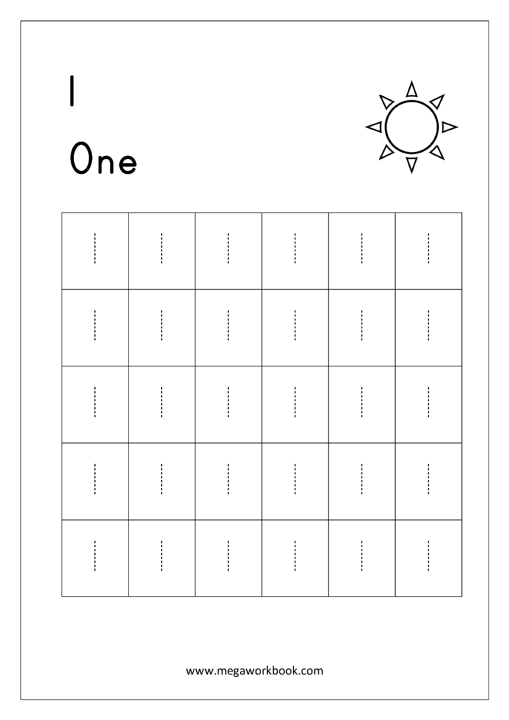 Kindergarten  Free Math Worksheets Number Tracing And Writing