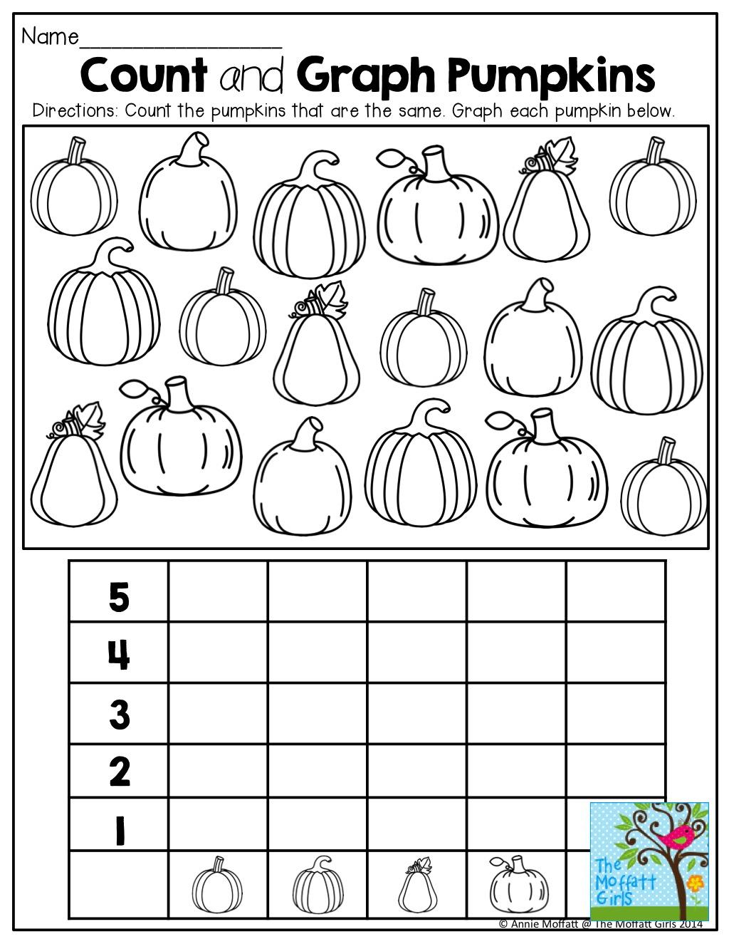 Kindergarten  Halloween Count And Record Pdf Kindergarten
