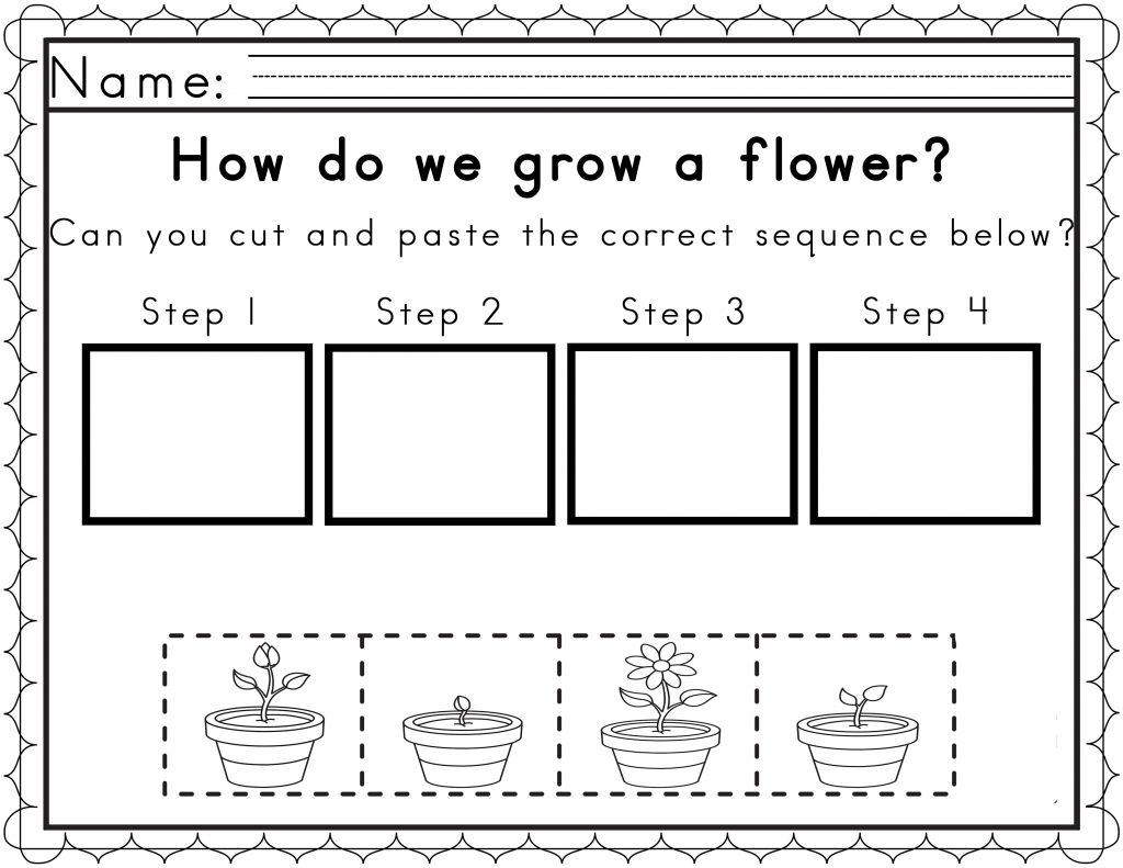 Kindergarten  Kindergarten Free Printable Sequencing Worksheets