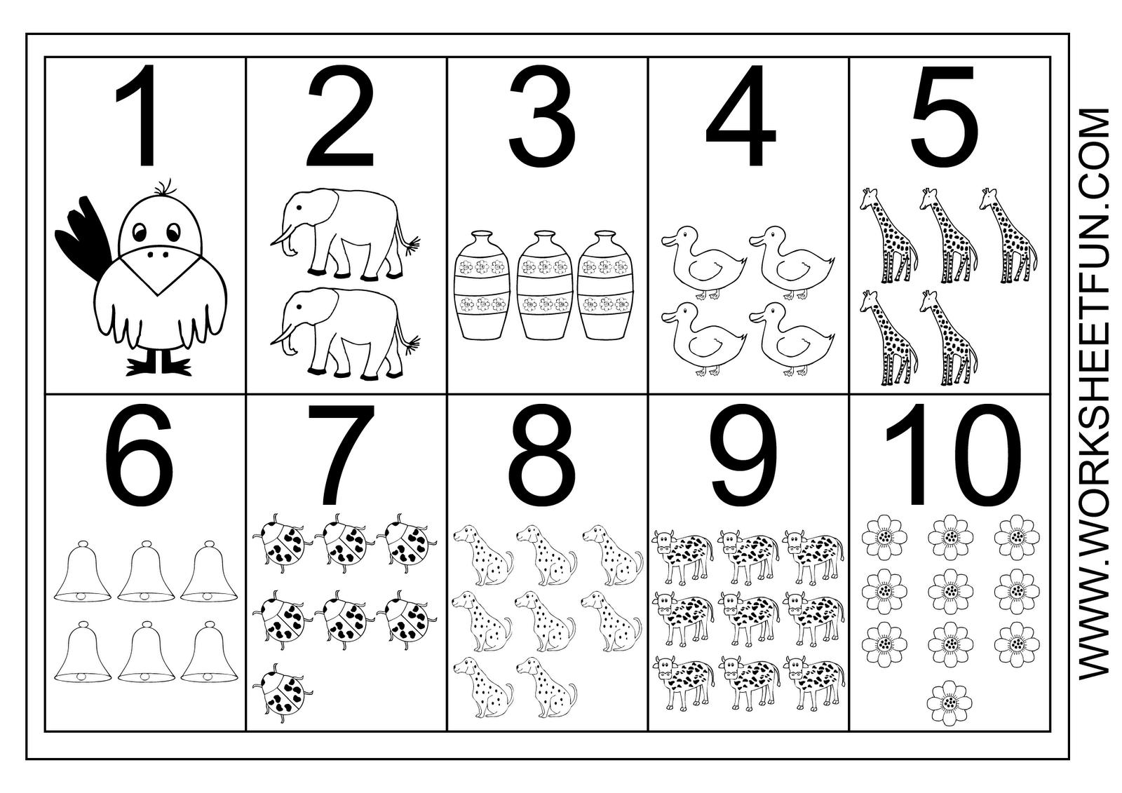 Kindergarten  Numbers Worksheets Kindergarten Math Missing Tracing