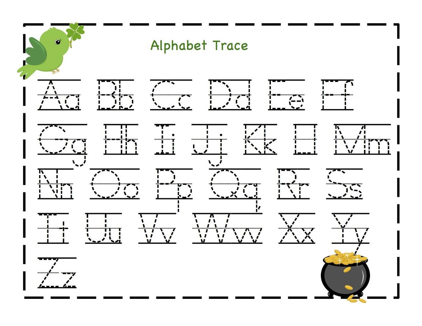 Kindergarten Abc Worksheets Alphabet Trace Letter Original Print