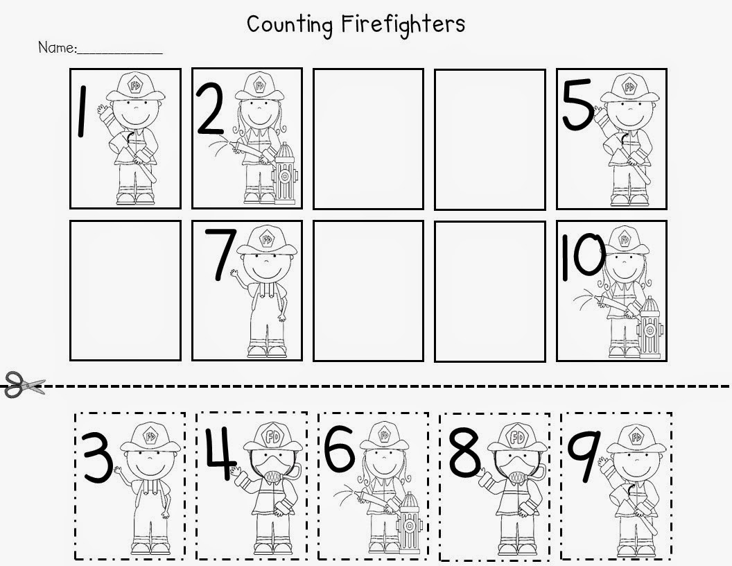 Kindergarten Fire Safety Freebies!