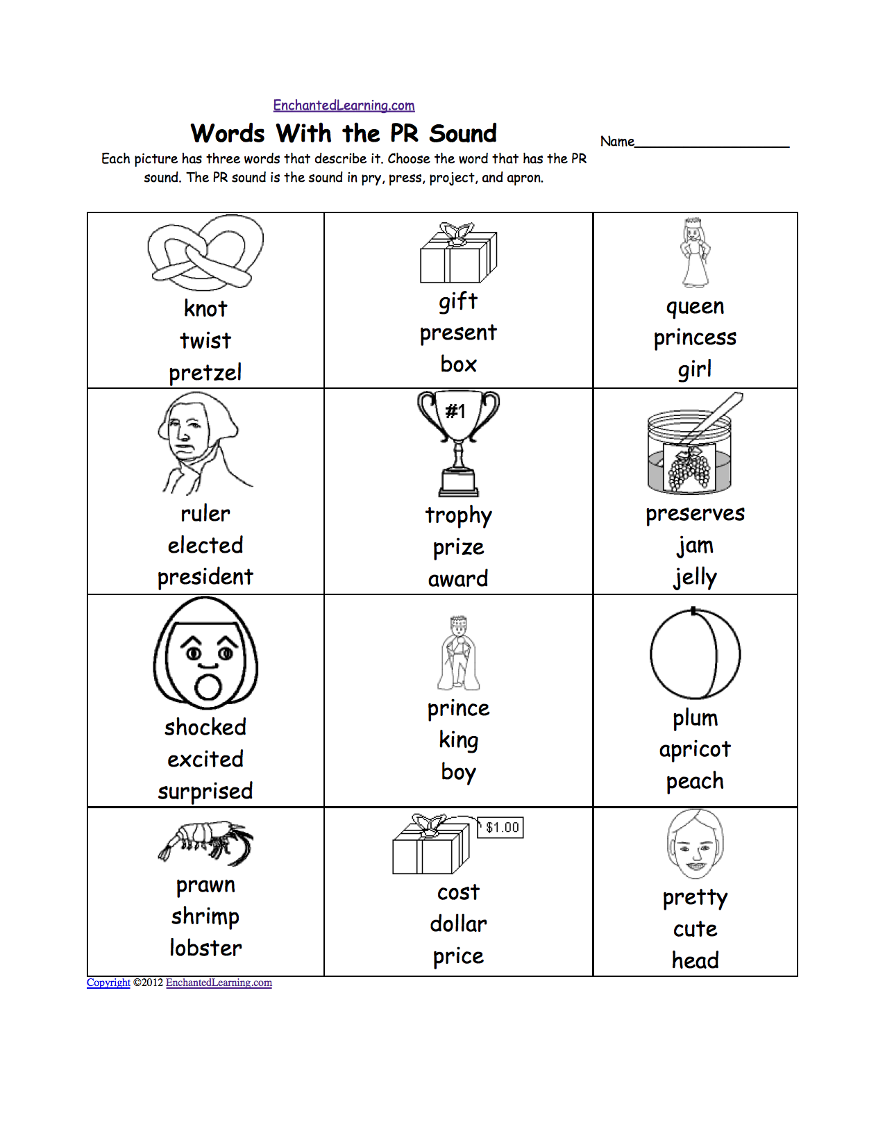 Kindergarten Letter P Alphabet Activities At Enchantedlearning Com