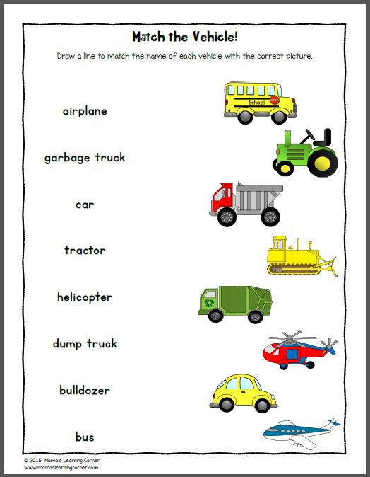 Kindergarten Worksheet Transportation 658926