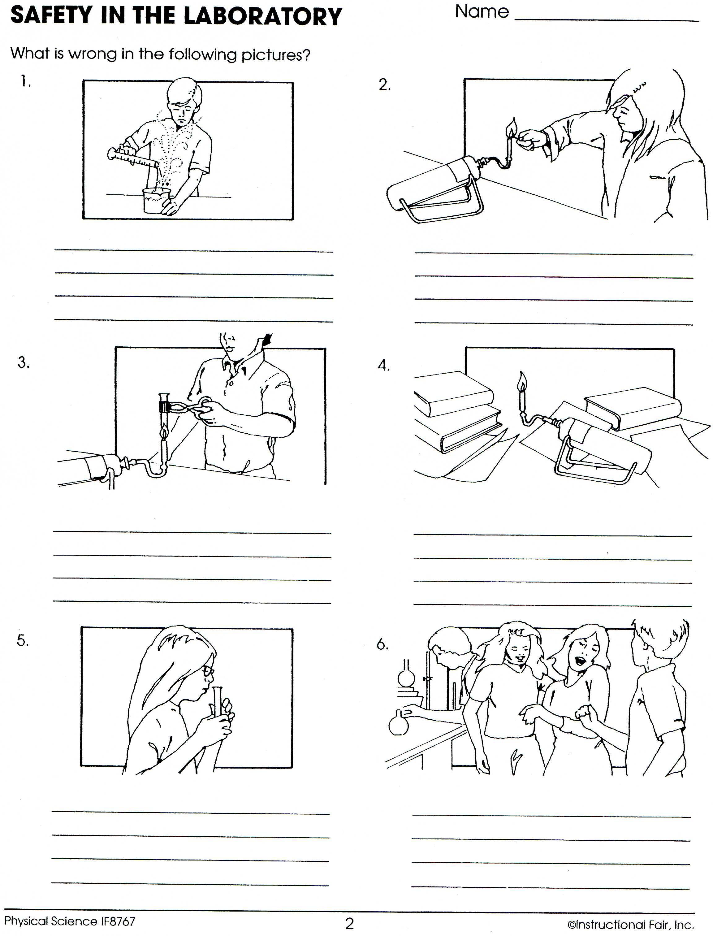Lab Safety Worksheet Education Com