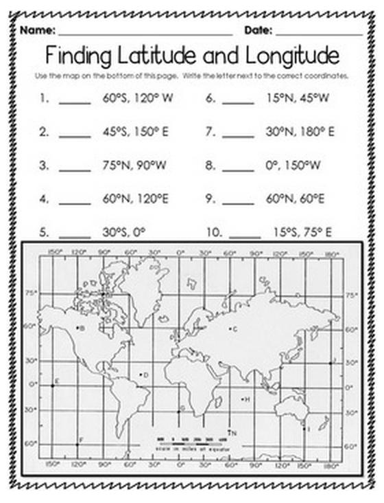 Latitude And Longitude Worksheets Using Worksheet