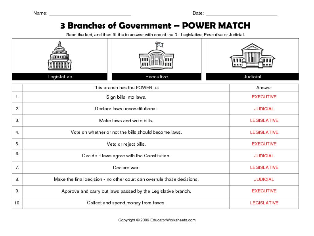 Legislative Branch Crossword Puzzle Pdf High Resolution Branches