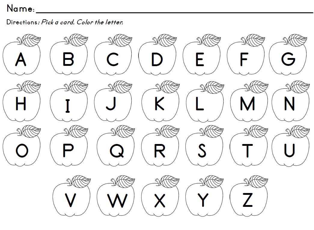 Letter Identification Worksheets Kindergarten