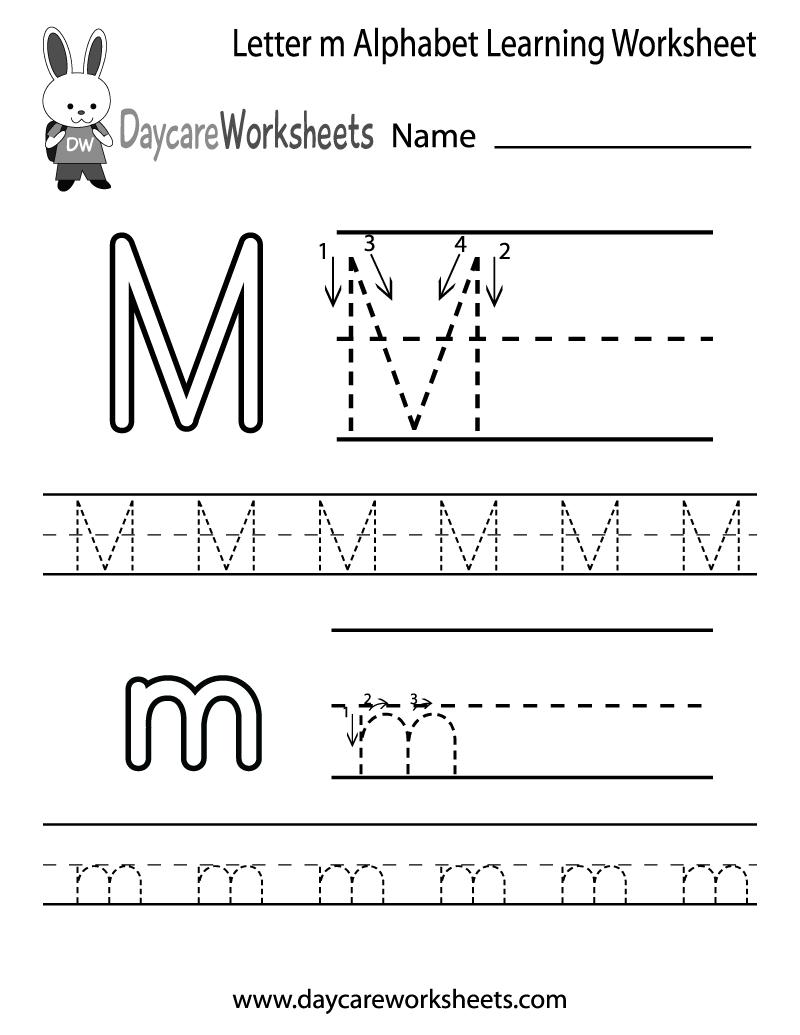 Letter M Worksheets For Kindergarten 484663