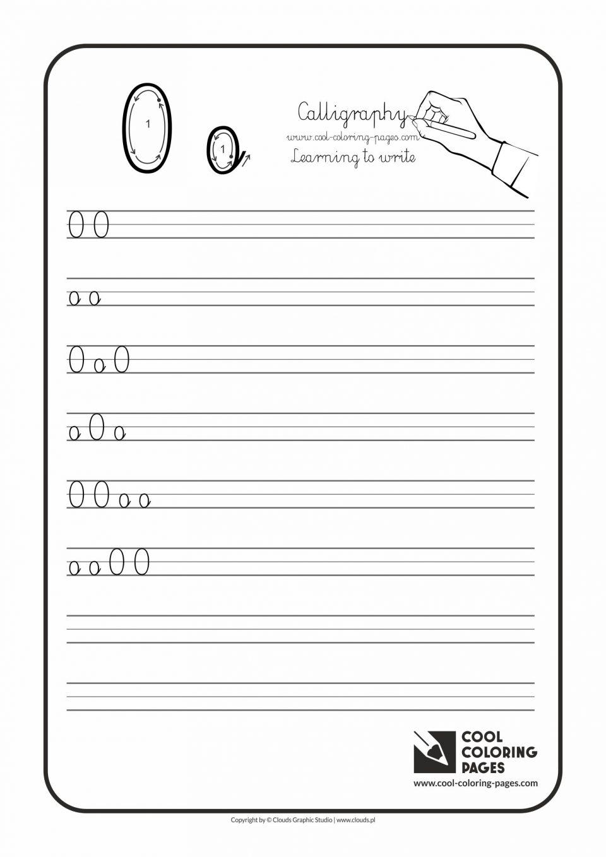 Letter O Writing Worksheets Printable Free For Kindergarten