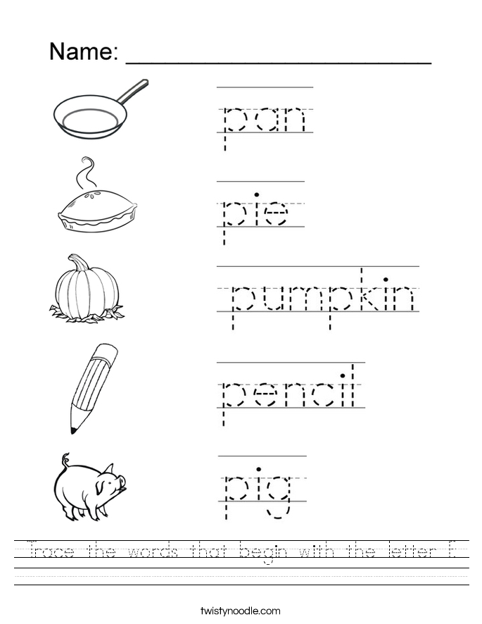 Letter P Initial Sound Worksheet The Best Worksheets Image