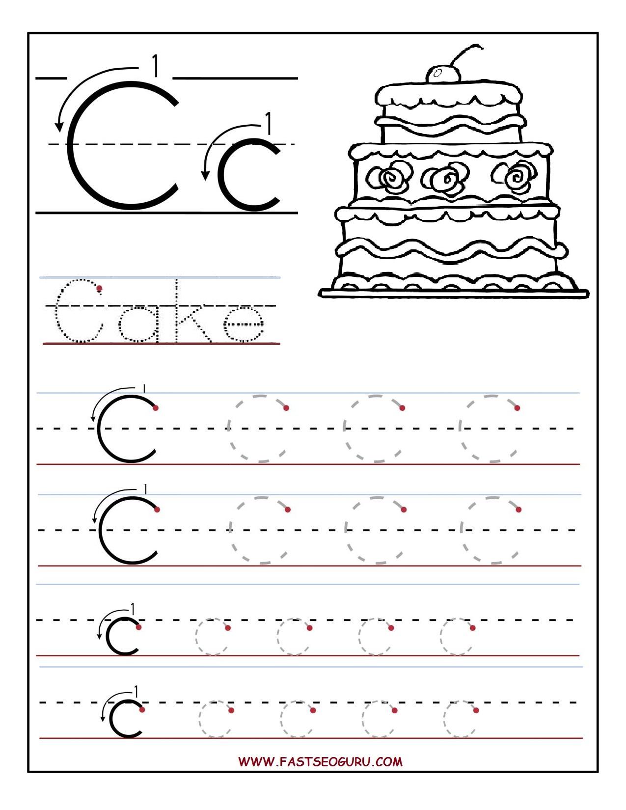 Letter Recognition Worksheets Letter C