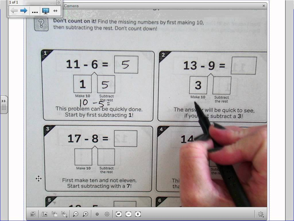 Make 10 Subtraction Strategy