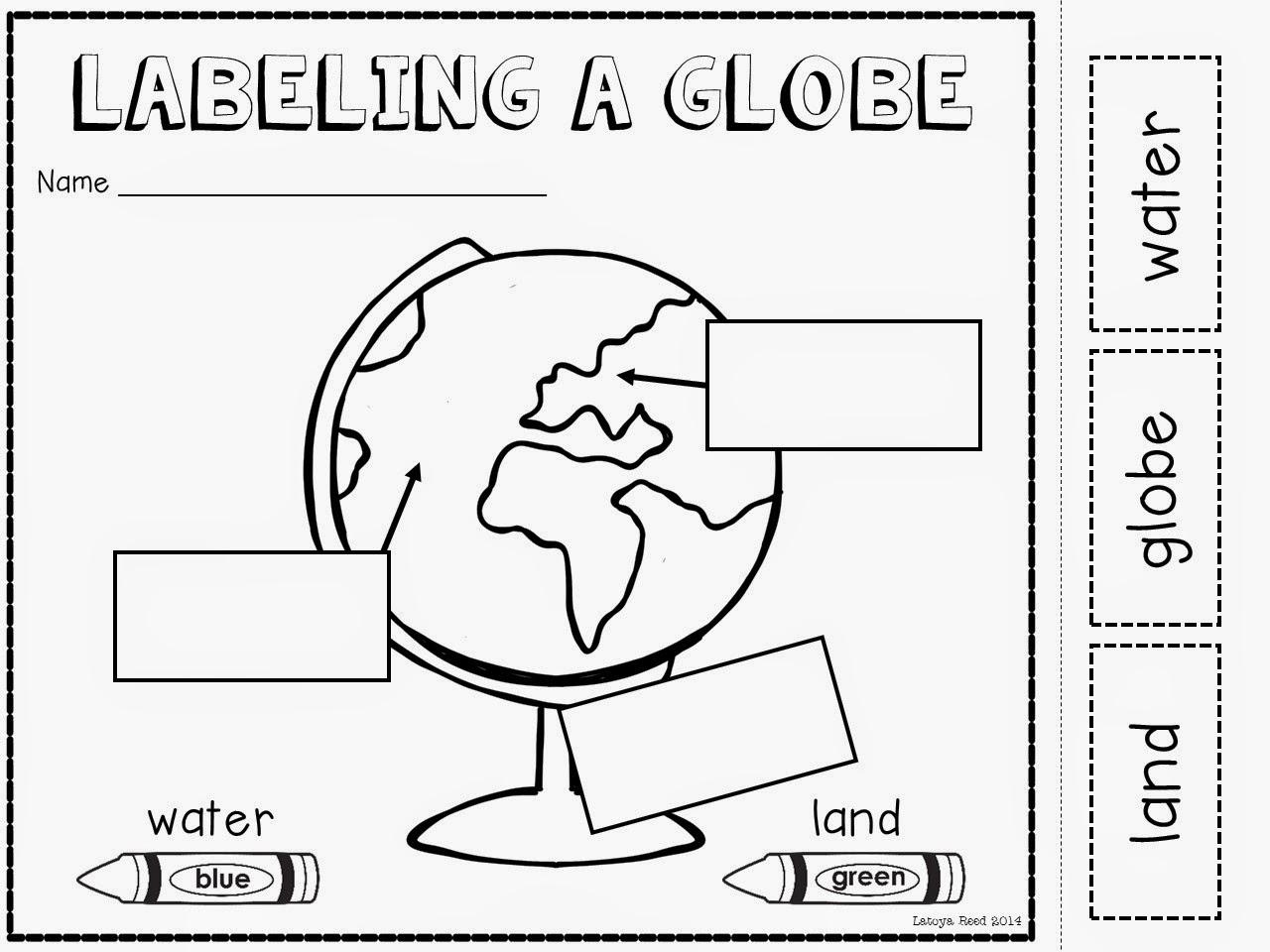 Map And Globe Worksheets For Kindergarten