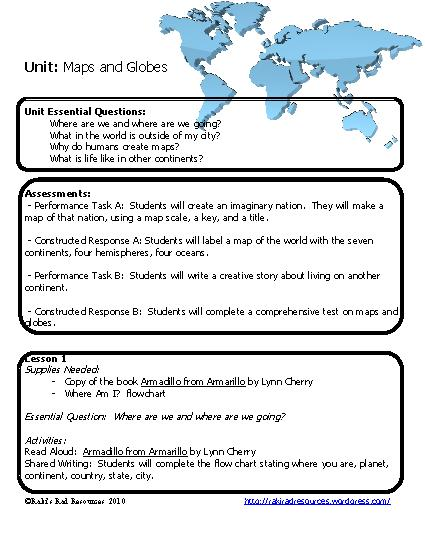 Maps And Globes Worksheets