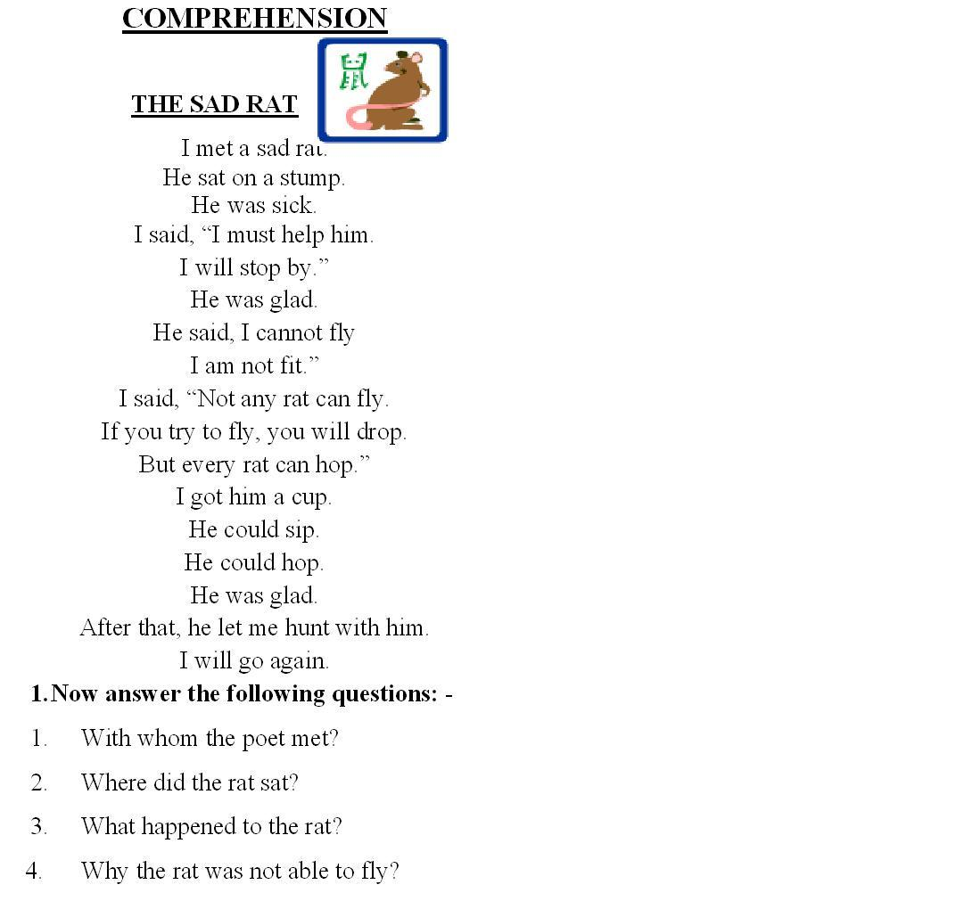 Math  Grade 2 English Reading  Comprehension Grade English Reading