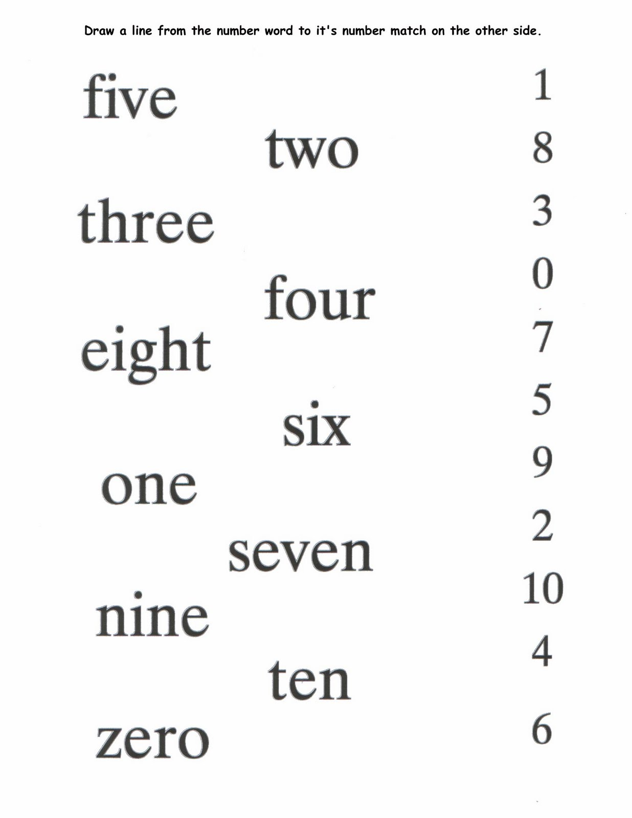 Math Worksheets Numbers In Words 566278