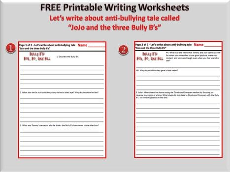 Middle School Bullying Worksheets