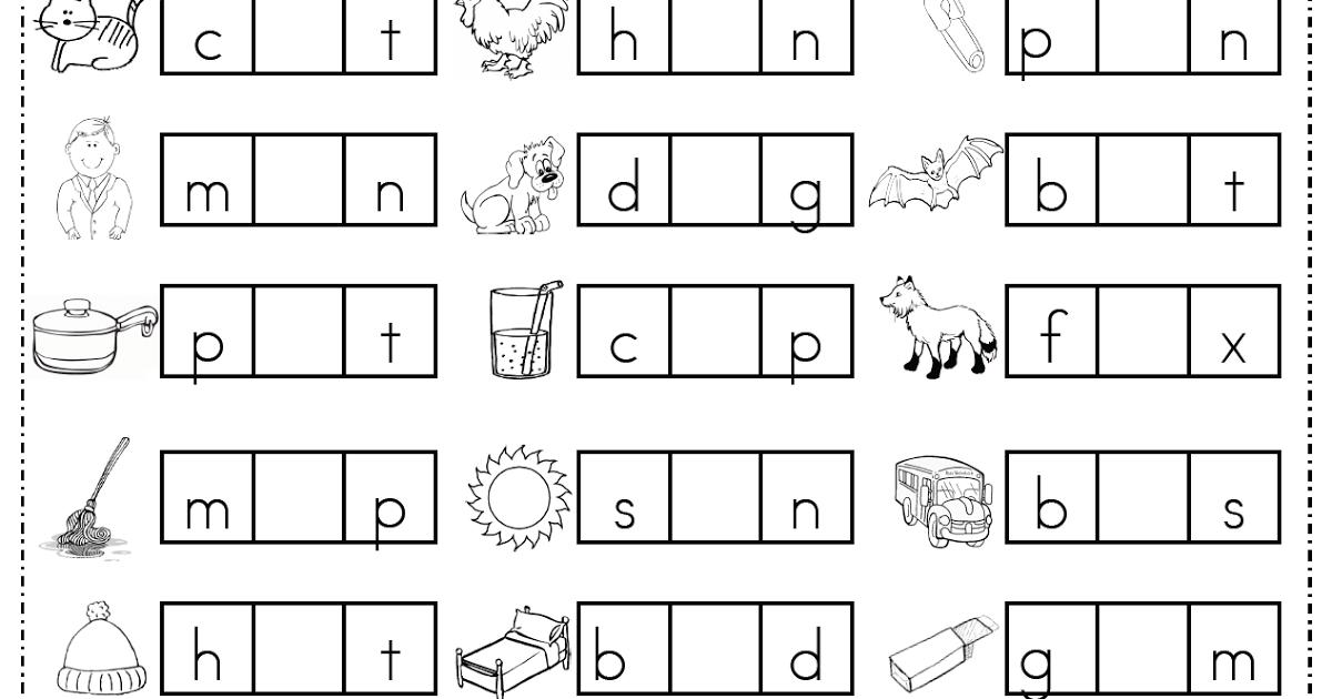 Middle Sounds Worksheets For Kindergarten The Best Worksheets
