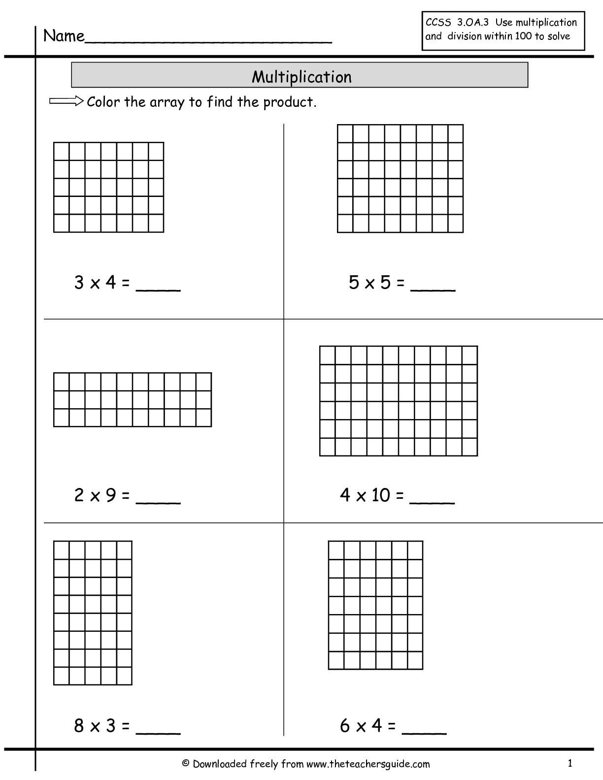 Multiplication Models Worksheet The Best Worksheets Image