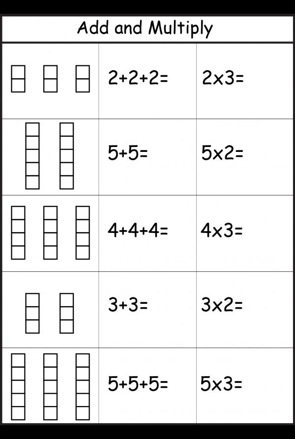 Multiplication Repeated Addition Worksheets Ks1 541553