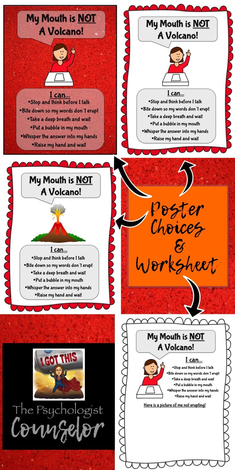 My Mouth Is Not A Volcano Posters And Worksheet  This Worked Great