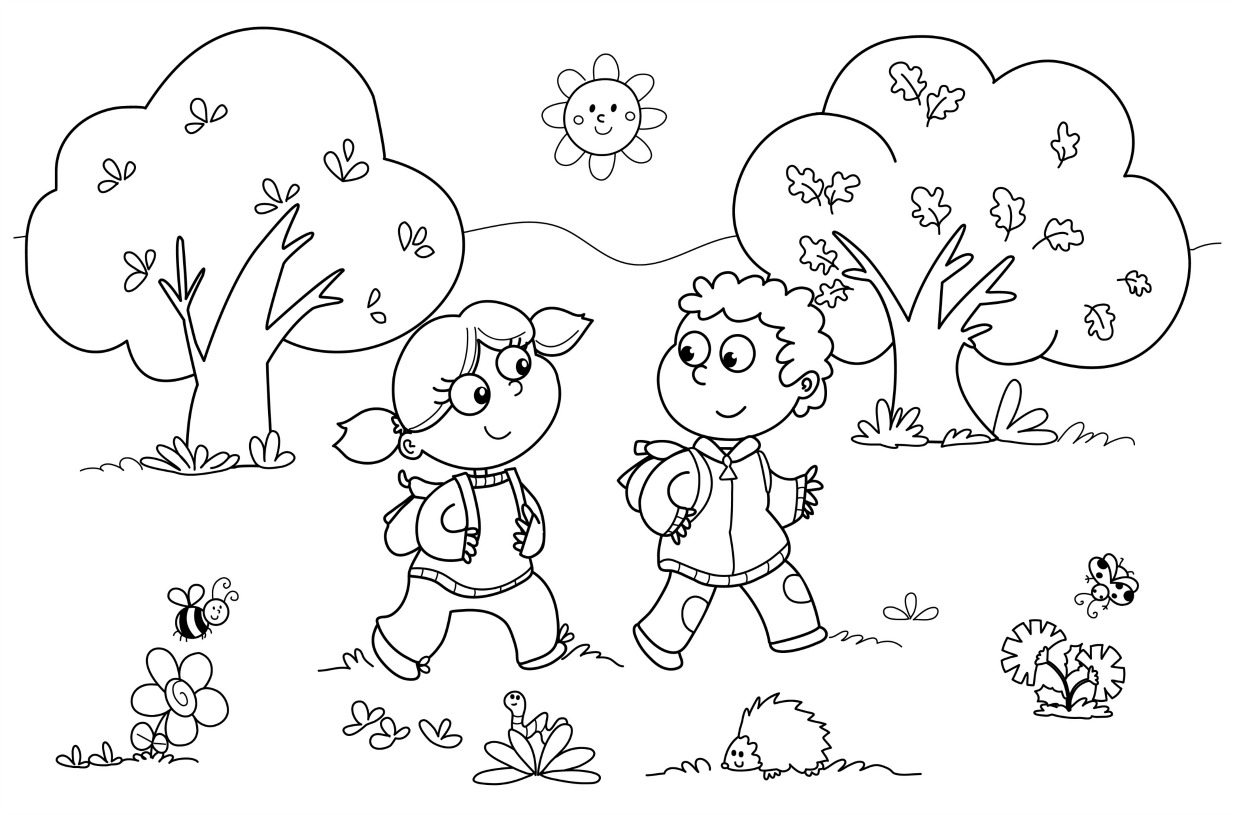 Nature Coloring Pages For Preschoolers Free Coloring Library