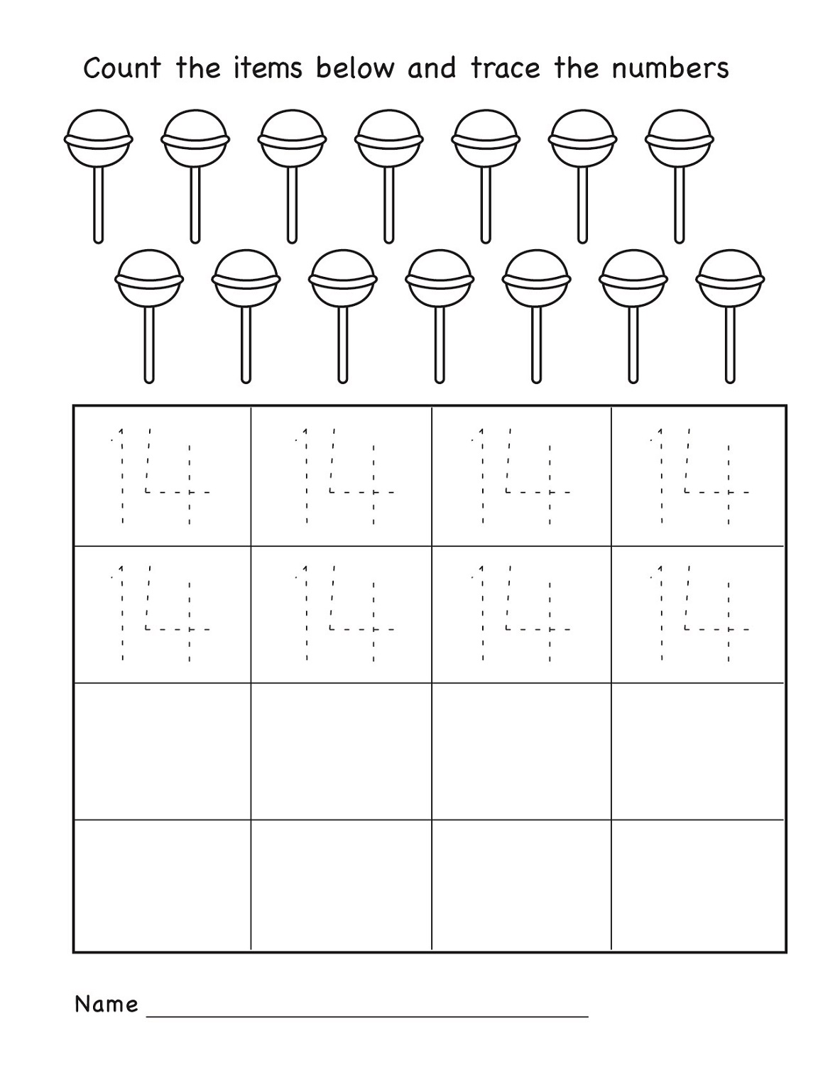 Number 14 Worksheets For Pre K