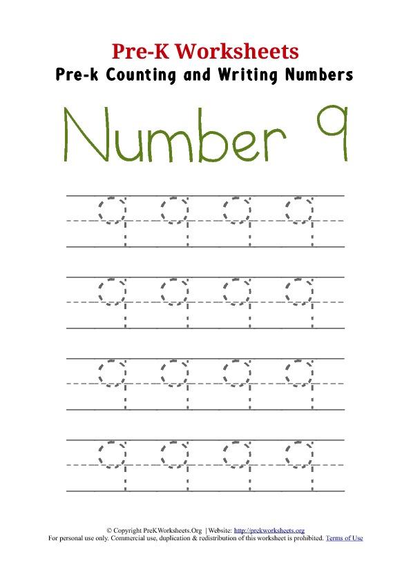 Number 9 Worksheet The Best Worksheets Image Collection
