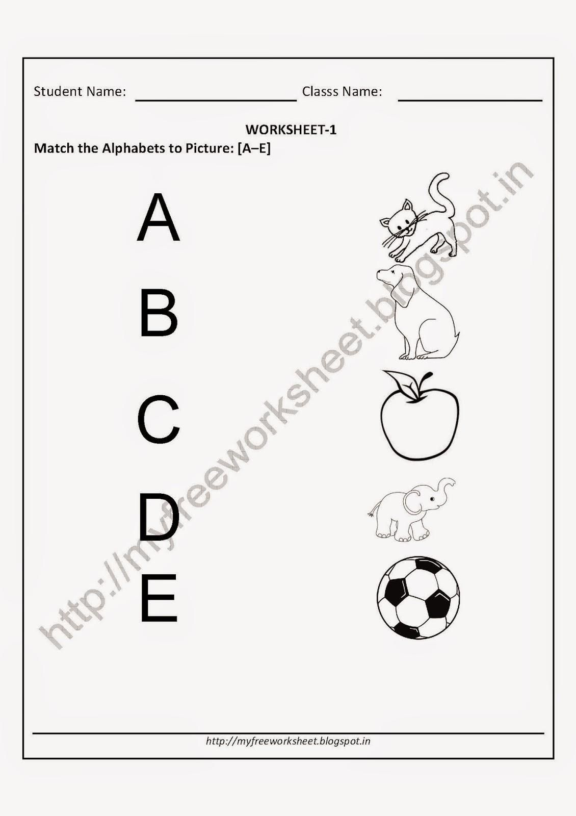 Nursery Worksheets In English