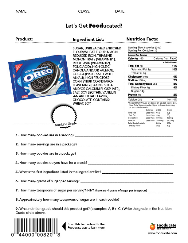 Nutrition Worksheets For Middle School The Best Worksheets Image