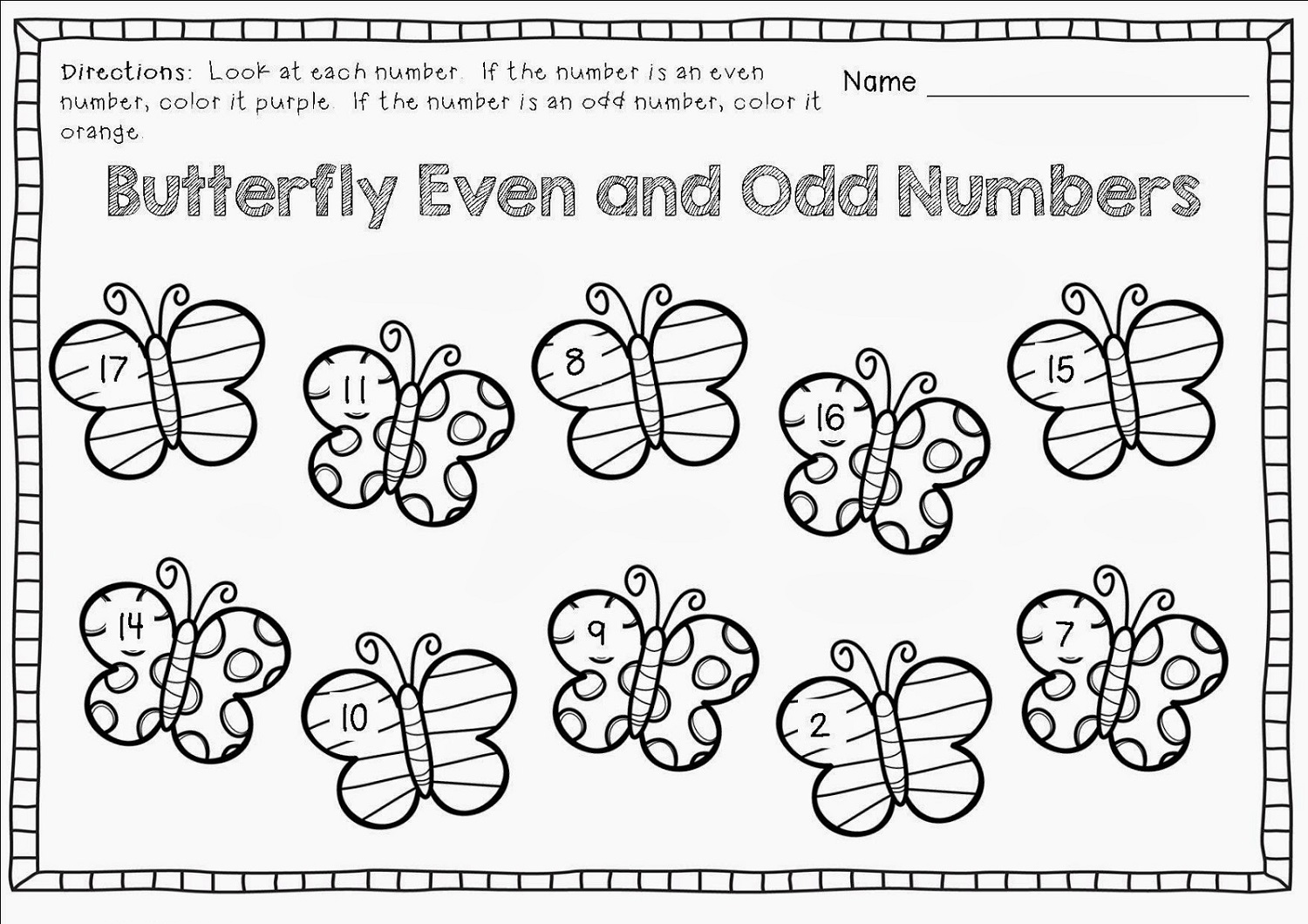 Odd Even Numbers Worksheet Kindergarten New Odd And Even Numbers
