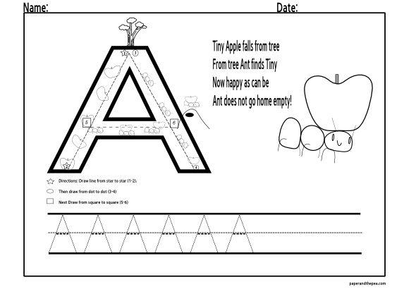 Pre Kindergarten Letter Tracing Worksheets 3735
