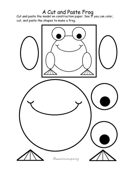 Preschool Color Cut And Paste Worksheets 347569