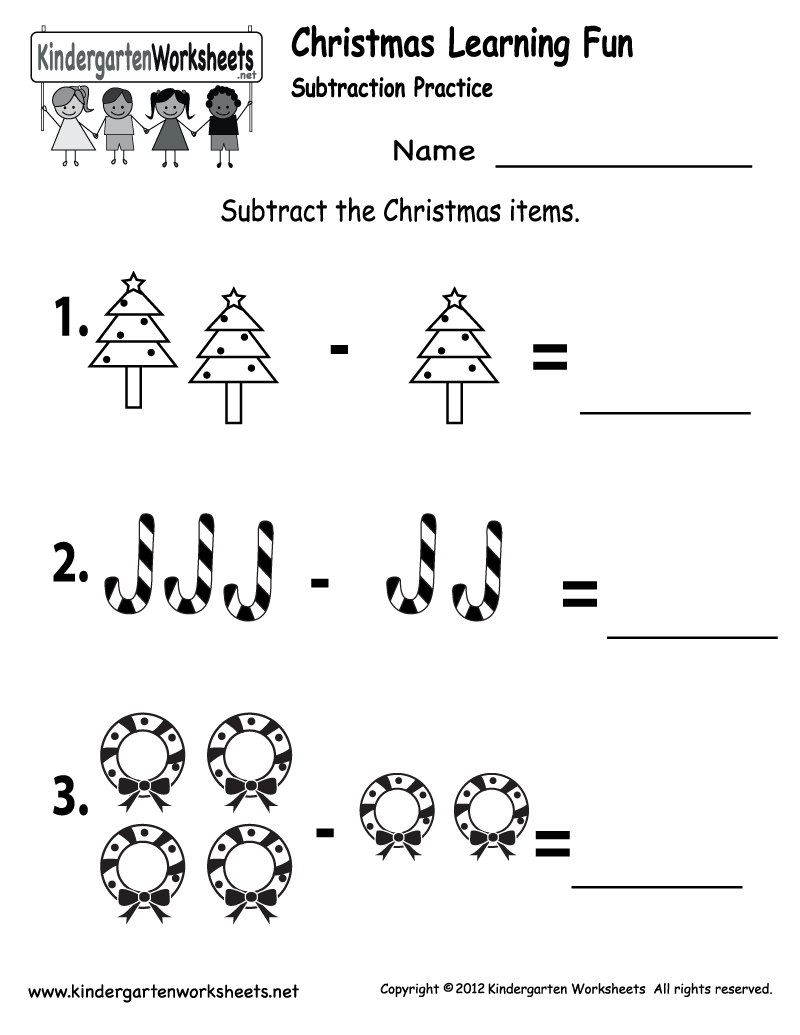 Printable Christmas Worksheets For Kindergarten Fun Activity