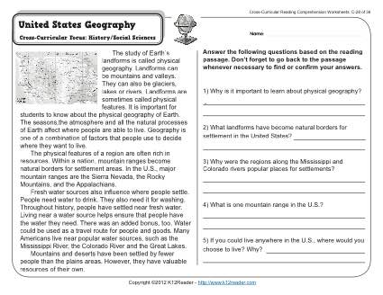 Printable Geography Worksheet The Best Worksheets Image Collection