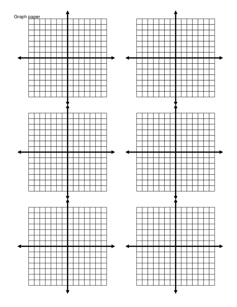 Printable Graph Paper Worksheets